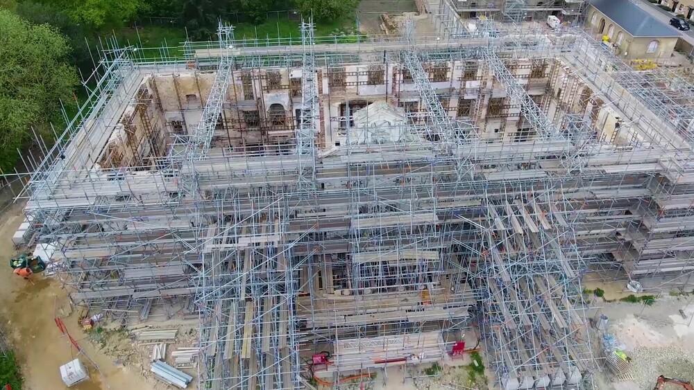 scaffolding drone work