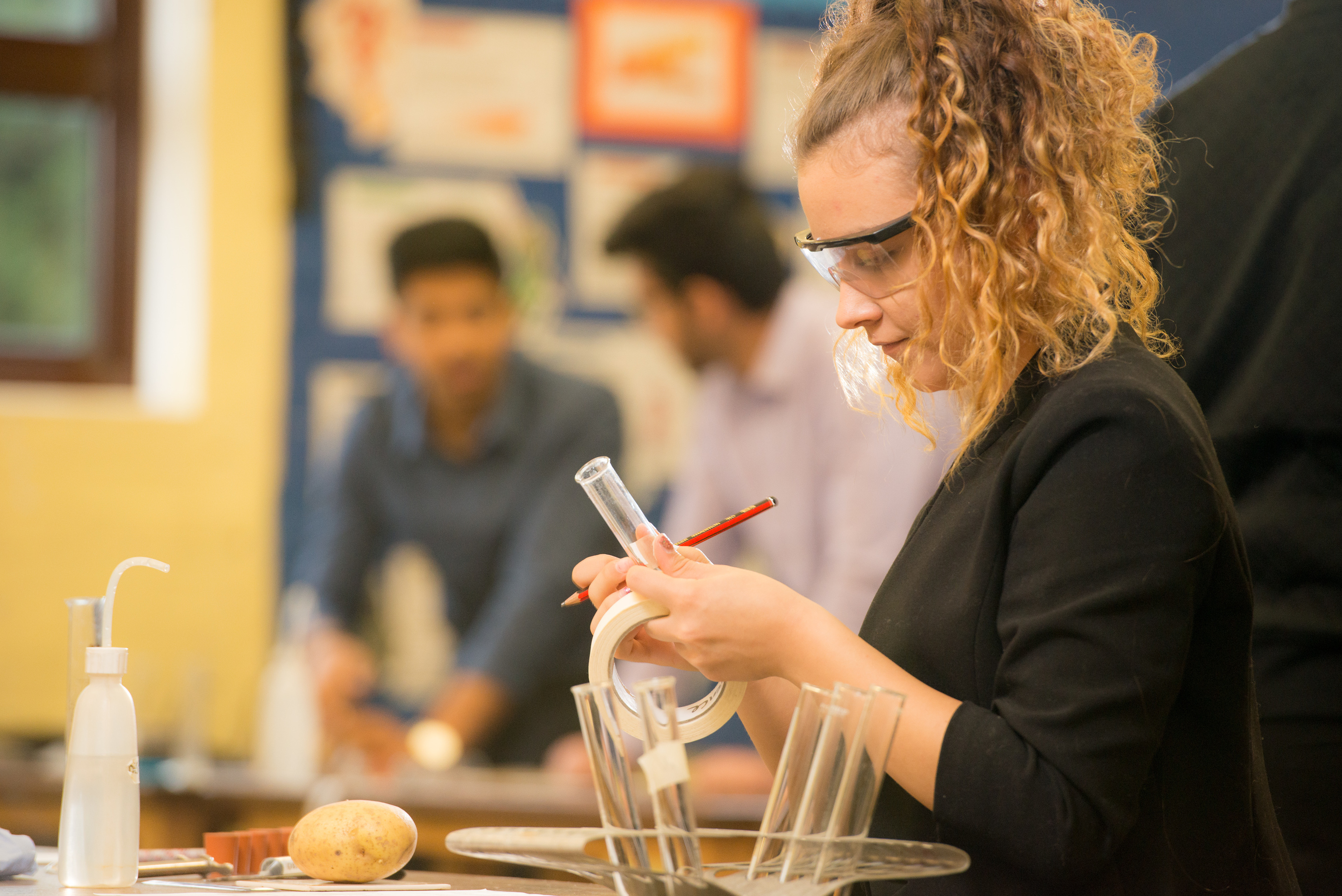 School brochure and website photography for Edenham High Schools sixth form science department