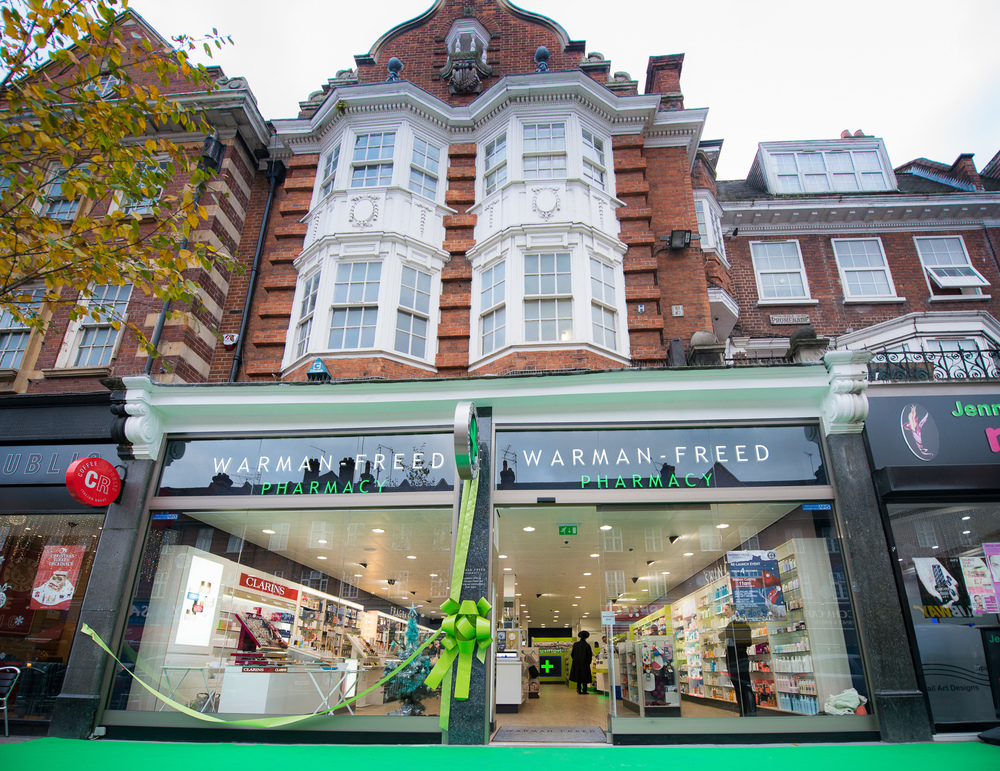 After the re-fit, Warman Freed pharmacy, Golders Green